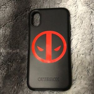 watch 52dc6 d9f22 New without box. iPhone X Deadpool Otterbox